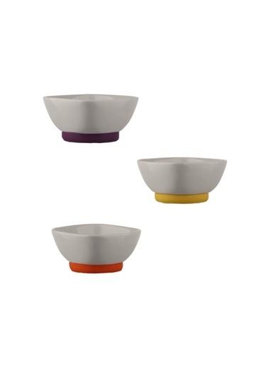 Kütahya Porselen 3'Lü Kase Renkli